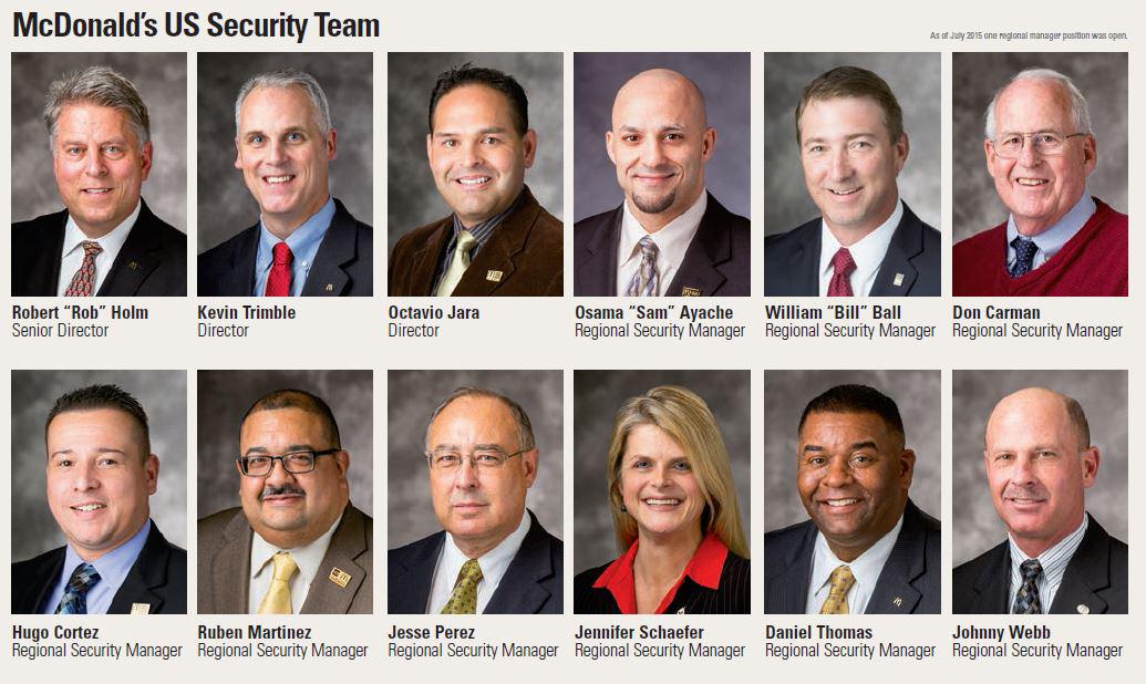 McDonalds US security team 2015