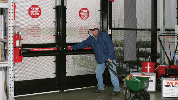 Detex weatherized door