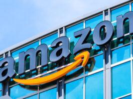 Amazon logo on building