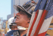 Fireman at site of twin towers