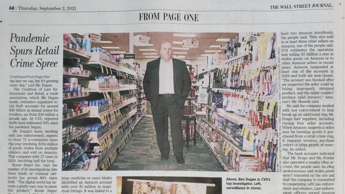 Wall Street Journal Ben Dugan article